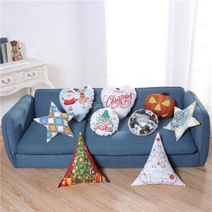 Christmas LED Luminous Pillow Covers Throw Cushion Cover XMAS Santa Claus Reindeer Pumpkin Pillow Case Sofa Car Decoration HH9-2304