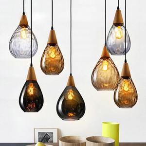 ArtPad Nordic Glass Pingente Luz para sala de estar Sala de gota de água E27 sala de jantar bar Bar Quarto pingente lâmpada pendurado luminárias