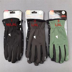 Mens Luvas de Inverno Quente Fleece Touch Screen Glove Homens Nonslip Luxo Elástica Luxurys Equitação Telefingers Luvas Ao Ar Livre Luva da Letra na moda