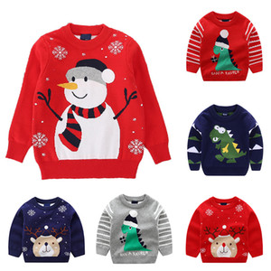 2019 Autumn Winter Knitted Sweater Children Clothing Boys Girls Sweaters Kids Cartoon Pure Cotton Pullover Clothes F1203