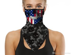 2020 Men Women Face Scarf Individuality Design Face Scarf Bandana Ear Loops Face Balaclava Neck Gaiters for Dust Mask