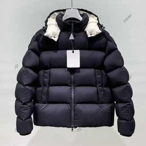 designer brand mens white goose down Parkas jacket winter warm outwear hooded letter print thick coat reflection clothing best quality