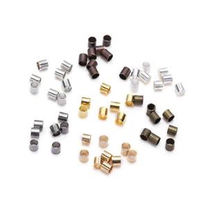 500 pcs 1.5 2.0 2.0 2.0 2,5mm Tubo de Cobre de Ouro Crimp Beads End Beads Beads Espaçador para Jóias Fazer Achados Suprimentos Jllqih