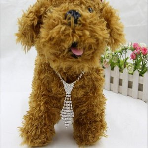 high end New Tie Jewelry Rhinestone Necklace Necklace Rhinestone Pet Collar Cat and Dog Supplies