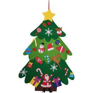 Kids Diy Felt Christmas Tree Christmas Decoration For Home 2021 New Year Gifts Christmas Ornaments Santa Claus Xmas Tree