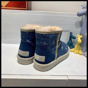 2020 Марка прод-к.т. Snow Boots Водонепроницаемый Denim 5D Волшебное Горячие Цвет ткани Теплый Хлопок обувь Женщины Non-Slip ветрозащитный хлопок сапоги