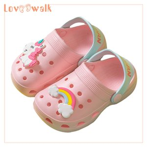 Girls Shoes Clogs Kids Slippers New Unicorn Shoes Baby Boy Beach Sandals Soft EVA Toddler Girls Sandals Flip Flops Kids Y201028