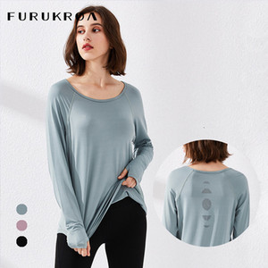 Womens Workout Yoga Shirts Long Sleeve Crop Top Fitness T-shirts Running Clothes Quick Dry Hollow Breathable Sports Wear X306B C0119