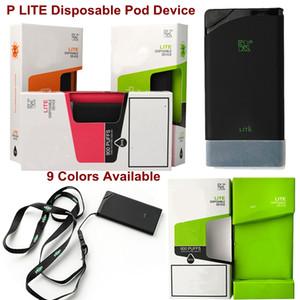 새로운 Lite 일회용 vape 펜 900puffs 미리 채워진 560mAh 배터리 3ml 카트리지 P Lite 일회용 vapes 9 색상 인기