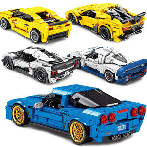 Speed Champions Technic Racer Muscle Car F1 Sets Building Model Blocks Bricks Moc Kits Kid Toy City Vehicle Traffic SuperRun X0102