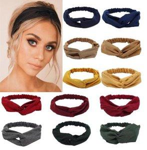 Gamuza gamuza turbante mujer banda de pelo arcos elásticos Headkerchief Sport Hairbands Head Band Nudo Diadema para niñas Headwear Headwrap Q BBYAFN