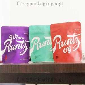 420 Mylar Og Herb Flower Packaging Bags 3.5 Grams White Runtz Design Cookies Bag Childproof Vape Cartridge Zipper bags 69o