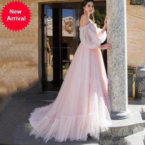 Sevintage Vintage Princesa Puffy Manga Longa Prom Vestido de Prom Plus Size Vestidos de Noite Robe de Soirée Femmes 2020