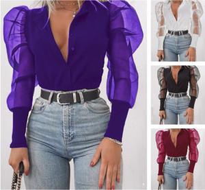 Primavera e autunno 2020 Camicia a maniche lunghe da donna in autunno e autunno 2020 Camicia di stile Style Sexy Style Edition Shirt Sexy Style Shiut Sexy