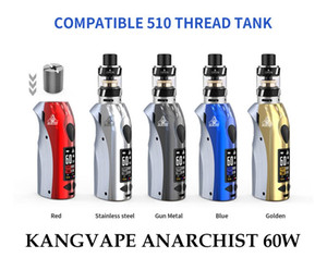 Authentic KANGVAPE ANARCHIST 60W POD KIT Adjustable Wattage Compact Pod System with OLED Display 5 Colors 1500mah Battery 100% Original