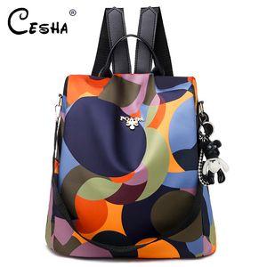 Cesha мода анти кражи дизайн школьная сумка для подростка высокого качества Оксфордский школьный рюкзак довольно стиль девушки рюкзак satchel t200114