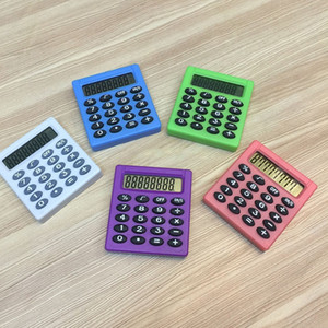 Piccola calcolatrice quadrata Pocket Pocket Student Student Exam Student Learning Interementato Essential Calculator Office School Stationery 8 Colors