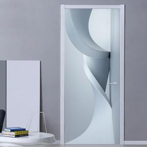 PVC autocollant autocollant autocollant 3D stéréo Abstrait géométrique espace peint wallpaper salon étude imperméable à la maison décalque 3D autocollants