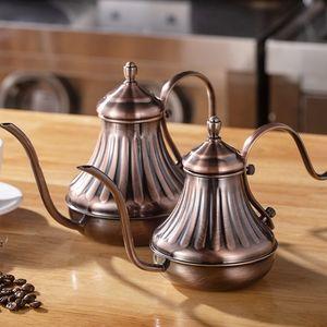 Royal Fine Roor Gooseeck Post Dong Loot Slex Over Over Coffee Cheettle Bronze 304 Нержавеющая сталь DIY Coffe Peakot Q0109