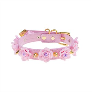 Harajuku Lolita Light Handcrafted Flower Golden Choker Beautiful Cosplay Valila Pink Pastel Goth Punk Kawaii Collana