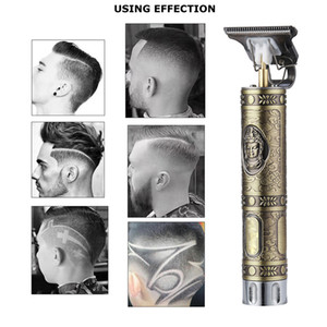 New Engraving Head Cutter Electric Hair Clippers Buddha Dragon T-shaped 1200mah Battery Men Trimmers Hair Cutting Machine