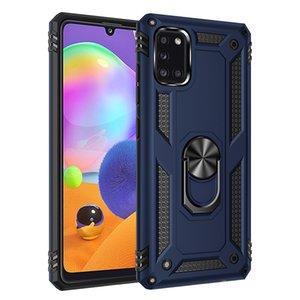 Caso de telefone para Samsung Galaxy A01 A11 A31 A41 A51 A21 A71 A70 A21S M11 M11 Anti Choque à prova de choque anel magnético capa