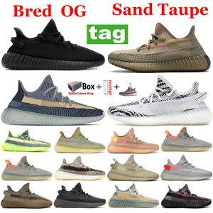 Yeni Kum Taupe Kül Mavi Taş Inci Koşu Ayakkabıları Bred Zebra Karbon Küliş Yansıtıcı Siyah Statik Erkek Kadın Runner Sneakers Eğitmenler