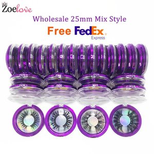 25mm Mink Eyelashes Bulk Vendor Makeup Long 3d Mink Lashes Wholesale Lash Eyelash Packaging Box Dramatic False Eyelashes