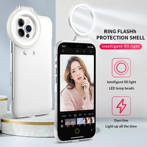 LED-Schönheits-Selfie Ringlicht Tragbare Flash-Kamera-Telefon-Case-Abdeckung Mini-Taschenlampe für iPhone 12 und iPhone 12 Pro Telefongehäuse