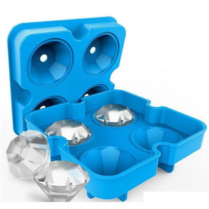 Newest 3D Diamond Ice Cube Ice Maker Diamond Shape Tray Mold Cube Cocktails Diy Cake Candy Ice Cream Silicone For Whiskey Tool 6G6Fb