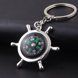 High Rudder Compass Keychain Compass Mini Compass King Ring Pocket Открытые гаджеты Hiking Кемпинг Открытый Gear YHM425