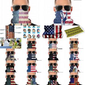 Бесшовные Старые Гардеров Гетру Слава Шере Американский флаг Щит Шарф Бандана Маска для лица УФ Защита Мотоцикл Велоспорт Евр.