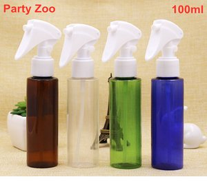 500 X 100ml PET Lotion Bottle White Mini Trigger  Mouse Type Spray Head 100cc Refillable Empty Cosmetic Containers