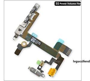 iPhone 4 4 S 5 5G 5C 5 S 6 Artı Sessiz Anahtarı Güç Düğmesi Flex Kablo Şerit Metal Braketi Yedek Parçalar