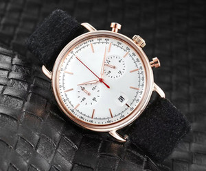 Fashion Good quality Brand Watches Men Multifunction Leather strap Date Quartz wrist Watch 2 small dials can work AR46