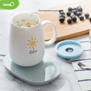 saengQ 55 temperature Cup Heating Mat Pad For Tea Coffee Milk Home Office Electric Hand Fast Heater Warmer Y1201