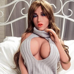 Mature Woman Real Love Dolls Blue Eyes Big Breast Older Lady Sexy Body Shape Sex doll for Men