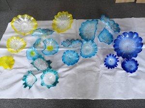 Free Shipping Creative Art Murano Glass Plate Hand Blown Glass LED Wall Light