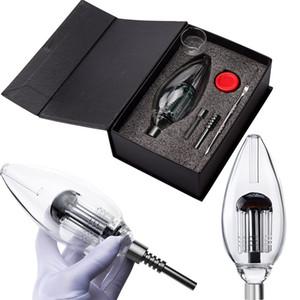 Headshop666 NC042 CSYC Arm Tree Perc Gift Box Set 510 Titanium Quartz Ceramic Nail Smoking Bong Glass Hand Pipe Smoking Pipe