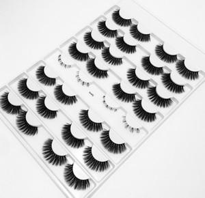 QUXINHAO 16 pairs 3D Mink Lashes Natural False Eyelashes Dramatic Volume Fake Lashes Makeup Soft Mink False Eyelashes