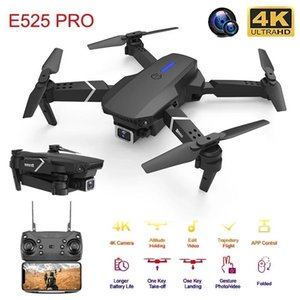 Verbesserte E525 PRO Drone с Wi-Fi FPV Aircraft 4K камера 1080P HD Трансмиссия в реальном времени UAV складной RC Quadcopter Drone