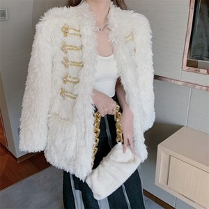 New Fur One-Piece Imitation Fur Jacket Female Autumn And Winter Style Korean Loose Fashion Cute Jacket Special Offer Free Shipping