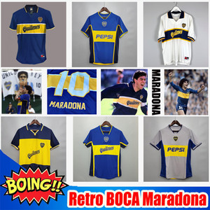 Retro Diego Maradona BOCA Juniors 96 97 Fussball Jersey 1981 2001 2002 Tevez Kids 2021 1997 1998 Fußballshirts MAILLOT CAMISETA DE FUTBOL