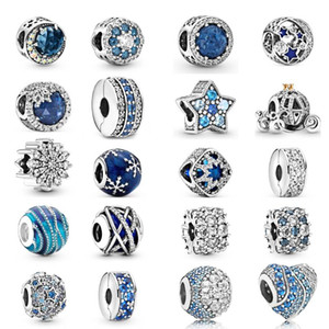 2021 NEW 100% 925 Sterling Silver with Original box Fashion love Pandora women Bracelet Scattered beads Jewelry DIY Making