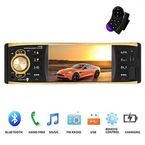 4019B 4.1 Inch 1 One Din Car Radio Audio Stereo AUX FM Radio Station Bluetooth Auto with Remote Control1