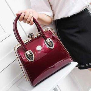Bright leather bags 2020 new fashion handbags women bags patent leather shiny hand carry bridal bag big bag purses and handbags