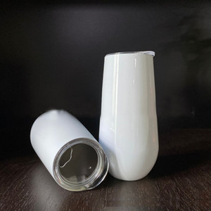 مخصص 6oz فارغ فارغ النبيذ كؤوس 6oz الأبيض نقل البيض التسامي البهلوان البهلوان الحرارة الطباعة المحيط شحن مجاني