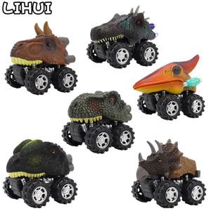 Dinosauro Torna indietro Baby Car Giocattoli per bambini Bambini T-Rex Triceratop Mini Diecast Inertial Cool Cars Model Toy Vehicles Regalo dei bambini Q1219