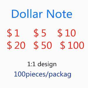 Explosion de billets simulée de dollars US Dollars Contrefeatier Bill Party Game Jeton Toy jouet UPS Fast ShippingsImula Devise du papier 100 US Dollar 957