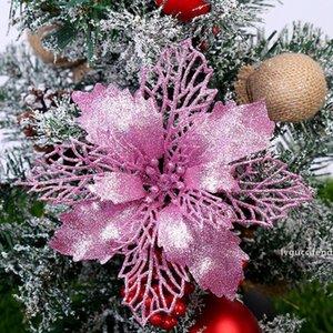عيد زهرة العفن diy الكربون الصلب قطع يموت بريق عيد زهرة شجرة شنقا الزهور الاصطناعي زهرة عيد الميلاد ديكور OOA7416-5